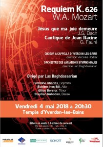 Affiche Mozart Requiem